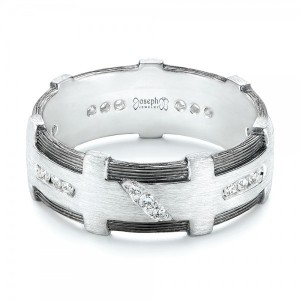 Custom Brushed Diamond Men's Band