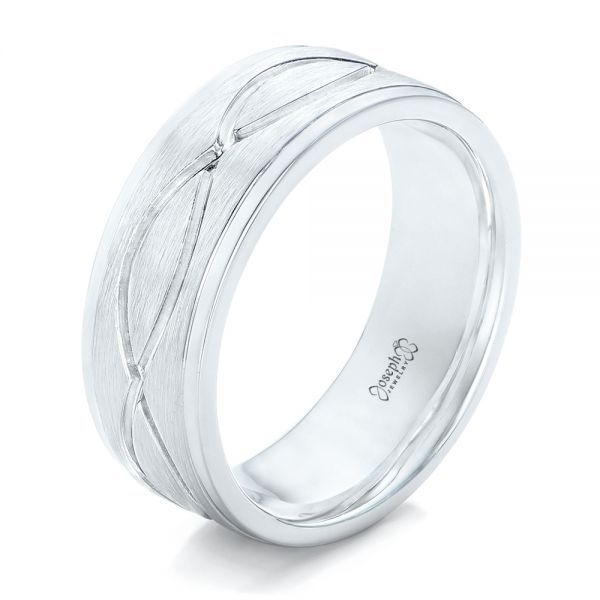Custom Brushed Men's Wedding Band - Image