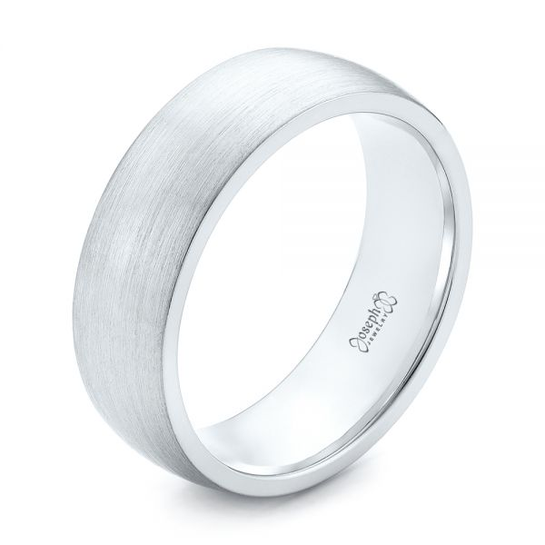 Custom Brushed Men's Wedding Band
