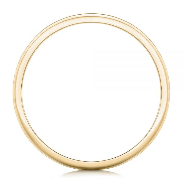 14k Yellow Gold 14k Yellow Gold Custom Brushed Men's Wedding Band - Front View -