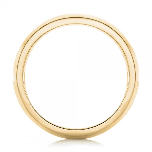 18k Yellow Gold 18k Yellow Gold Custom Brushed Men's Wedding Band - Front View -  102843