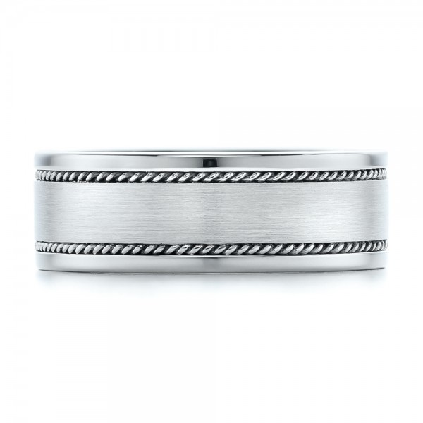 Custom Cable and Brushed Finish Unisex Band - Top View