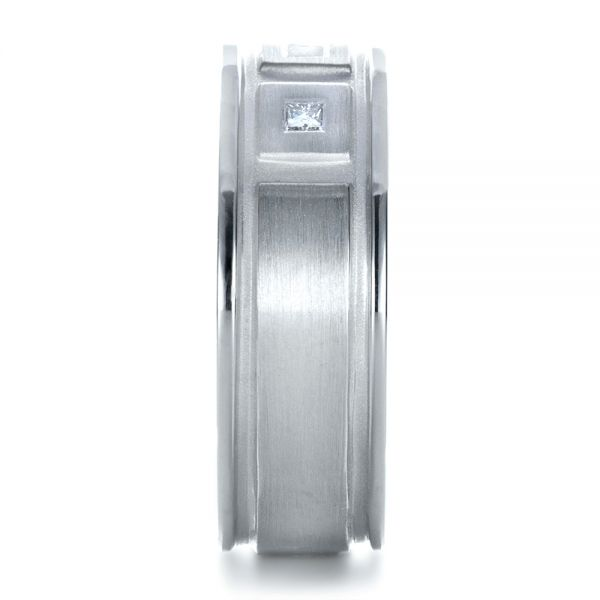 Platinum Custom Diamond Men's Band - Side View -