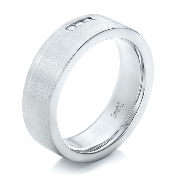 Custom Diamond Men's Wedding Band