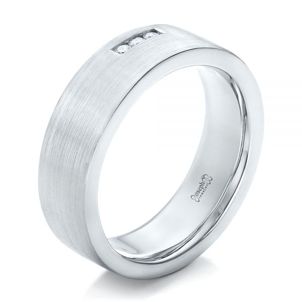 Custom Diamond Men's Wedding Band - Image