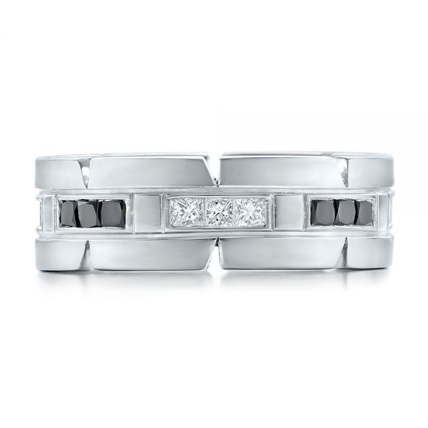 Platinum Custom Diamond Men's Wedding Band - Top View -