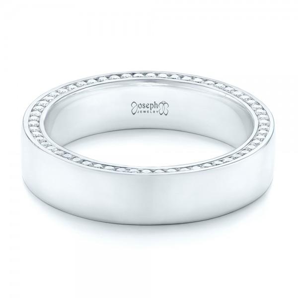 Custom Diamond Mens Wedding Band 102766