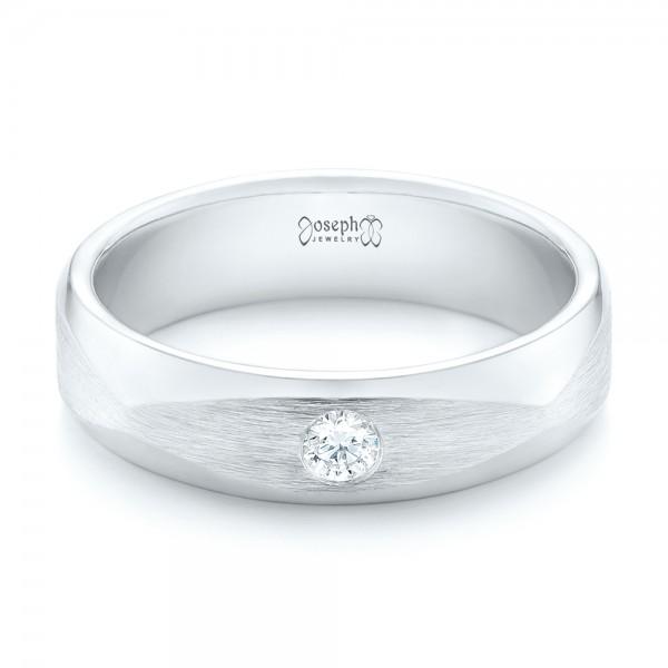 Custom Diamond Men's Wedding Band - Laying View
