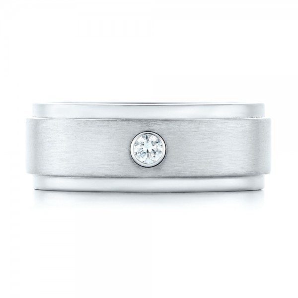 Custom Diamond Men's Wedding Band - Top View