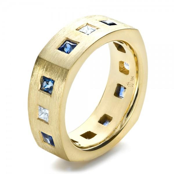 custom diamond and blue sapphire men 39 s band 1200 bellevue