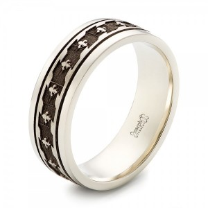 Custom Engraved Men's Wedding Band