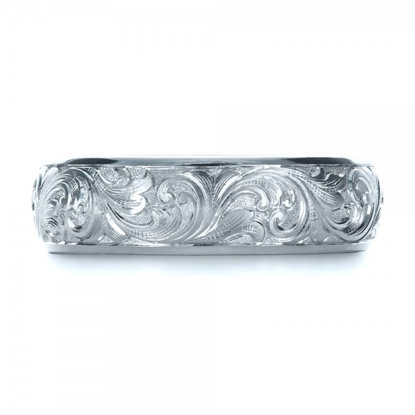 Custom Hand Engraved Band - Top View