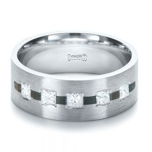 Custom Inlay Diamond Men's Band
