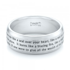 Custom Laser Inscribed Men's Band