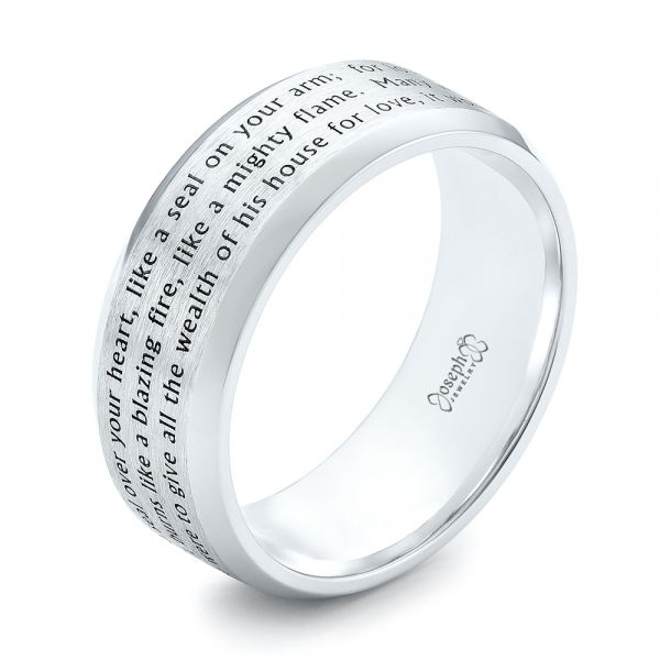 Custom Laser Inscribed Men's Band - Image