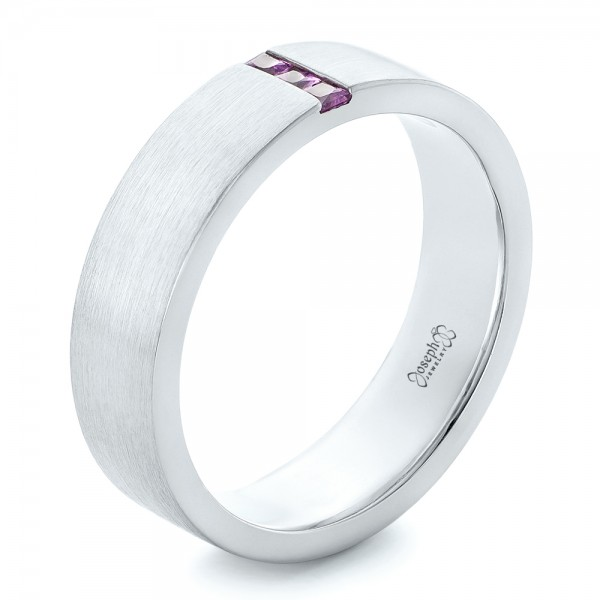 Custom Lavender Sapphire Men's Wedding Band