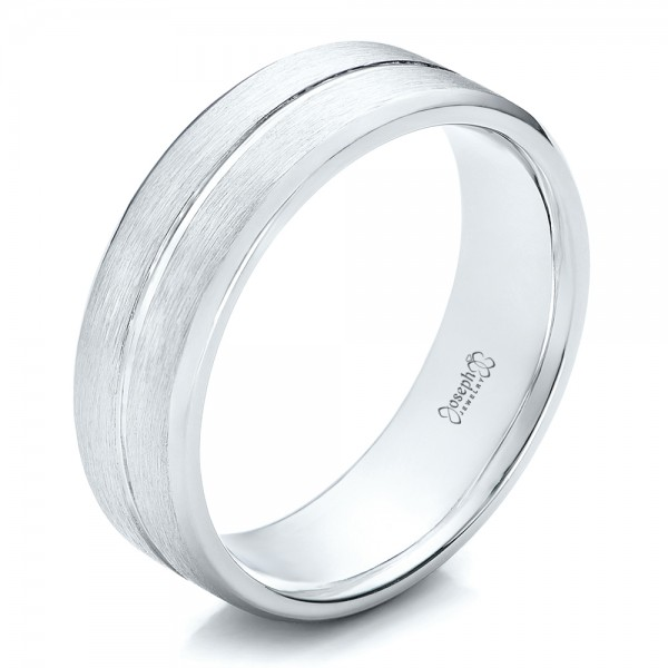 Custom Men's Brushed Platinum Band