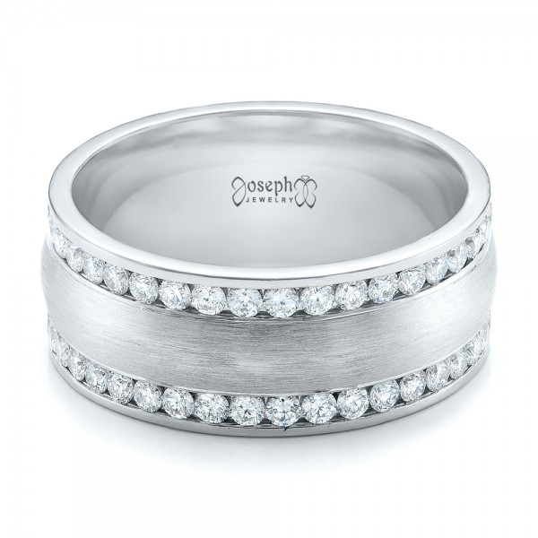 Custom Men's Channel Set Diamond Wedding Band