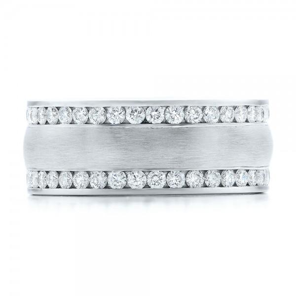 Custom Men's Channel Set Diamond Wedding Band - Top View