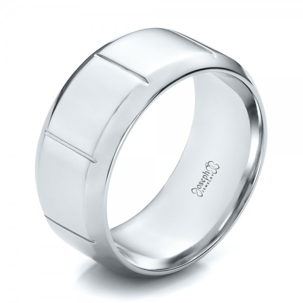 Custom Men's Contemporary Platinum Band