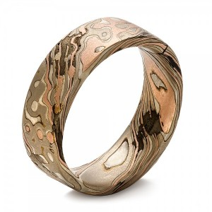 Custom Men's Mokume Wedding Band - Image