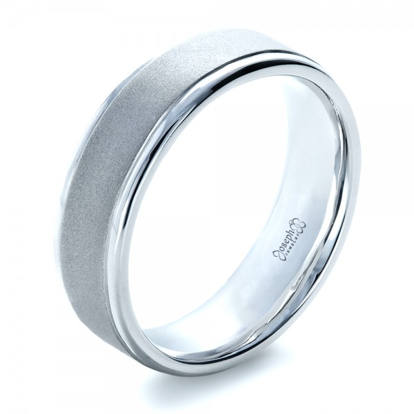 Custom Men's Platinum Band - Three-Quarter View -  1270 - Thumbnail