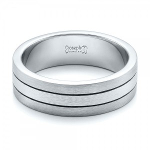 Custom Men's Platinum & Palladium Brushed Band