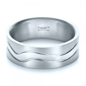 Custom Men's Platinum Wedding Band