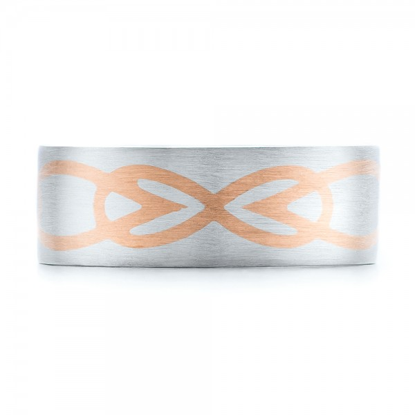 Custom Men's Two-Tone Inlayed Band - Top View