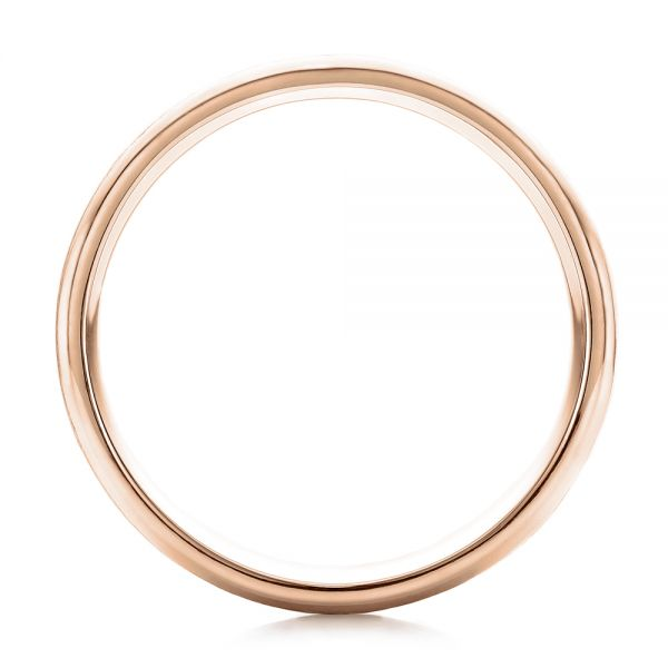 18k Rose Gold 18k Rose Gold Custom Men's Brushed Band - Front View -