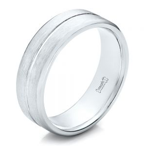Custom Men's Brushed Platinum Band - Image