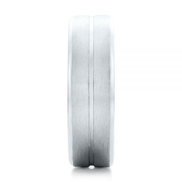 Platinum Custom Men's Brushed Band - Side View -