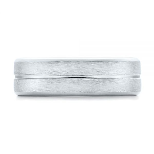 Platinum Custom Men's Brushed Band - Top View -