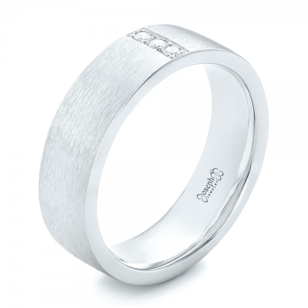 Custom Mens Diamond Wedding Band 102430