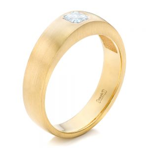 Custom Men's Diamond Wedding Band - Image