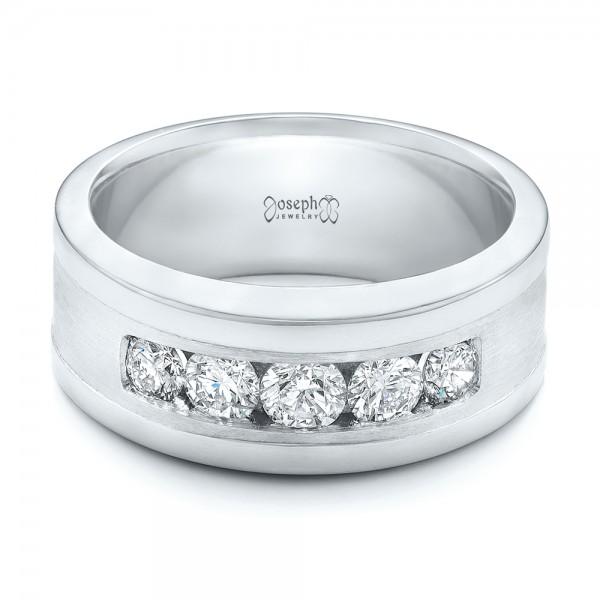 Custom Men's Diamond Wedding Band - Laying View