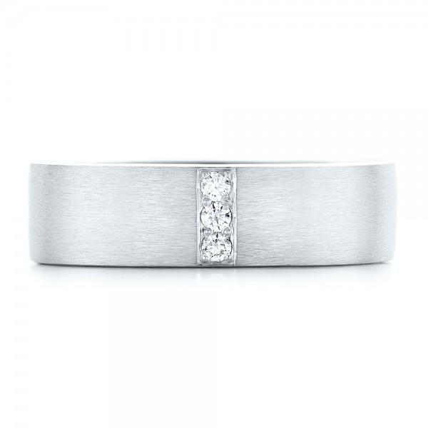 Custom Men's Diamond Wedding Band - Top View