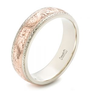 Custom Men's Hand Engraved Wedding Band - Image