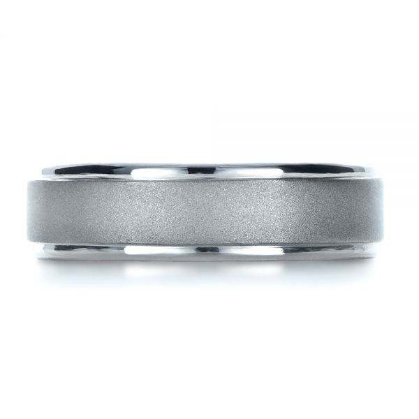 Platinum Custom Mens Band - Top View -