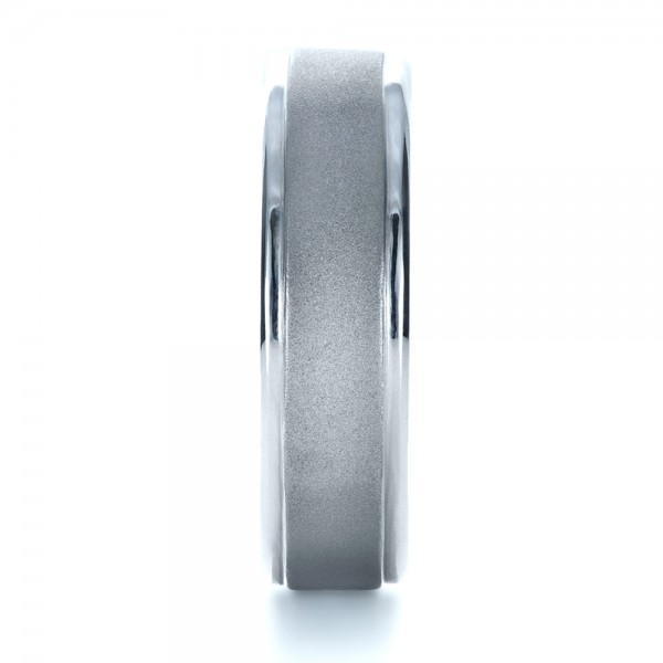 Custom Men's Platinum Band - Side View -  1270 - Thumbnail