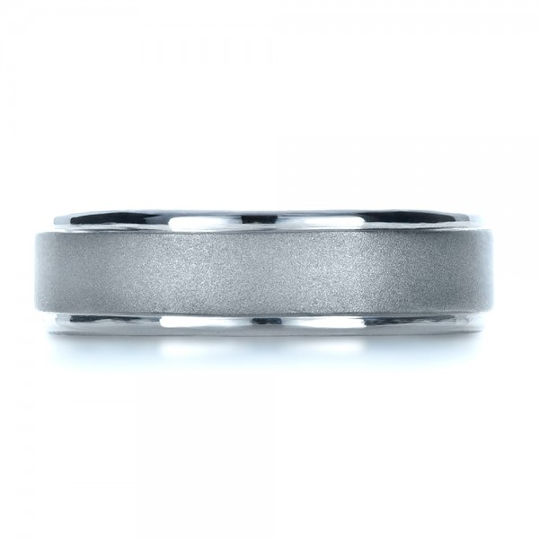 Custom Men's Platinum Band - Top View -  1270 - Thumbnail