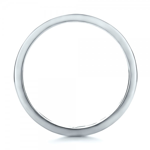 Custom Men's Platinum Filigree Wedding Band - Finger Through View