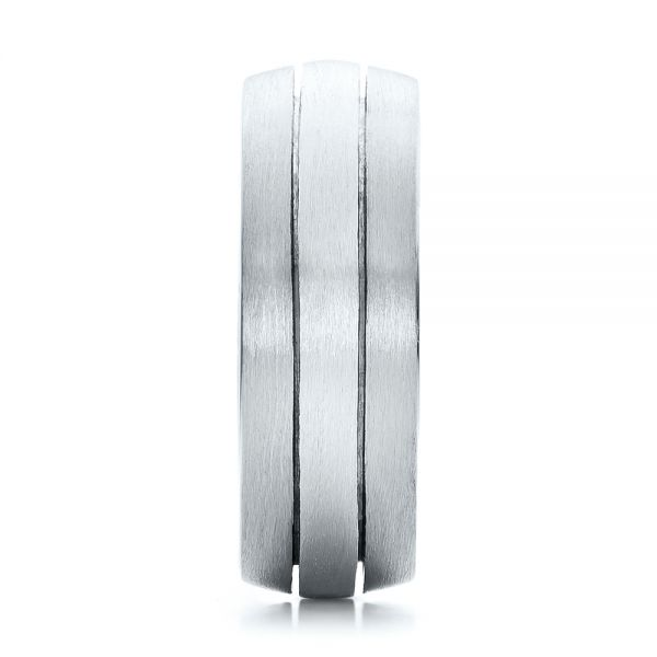 Platinum And Platinum Platinum And Platinum Custom Men's and Brushed Band - Side View -
