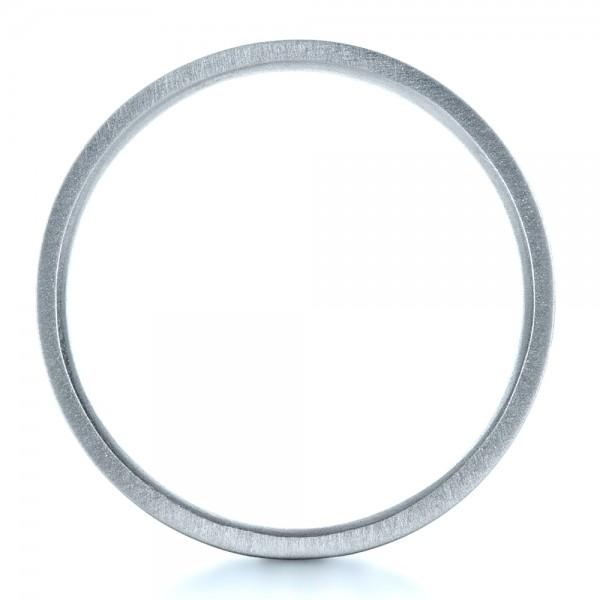 Custom Men's Platinum Wedding Band - Finger Through View