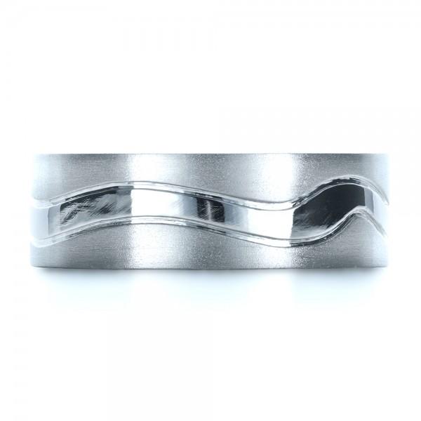 Custom Men's Platinum Wedding Band - Top View