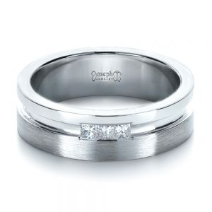 Custom Men's Princess Cut Diamond Band