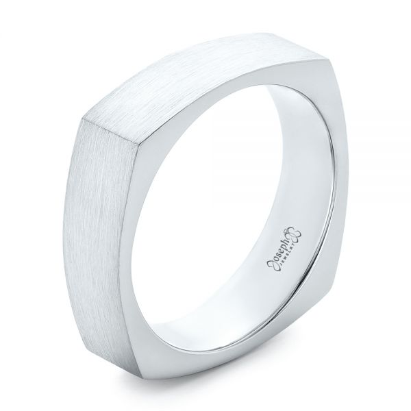 Custom Men's Squared Wedding Band - Image