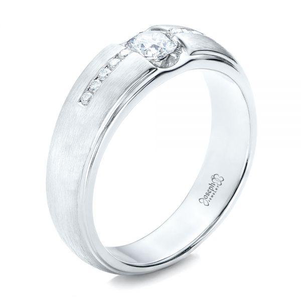 Custom Men's Tension Set Diamond Wedding Band