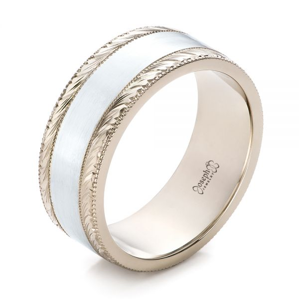 Custom Men's Two-Tone Wedding Band - Image
