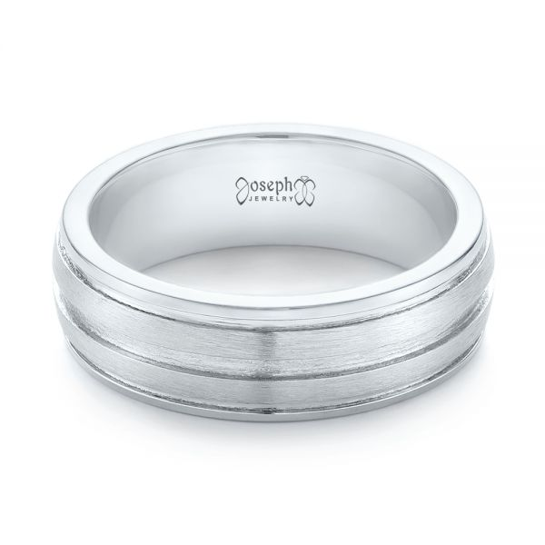 Custom Men's Wedding Band - Flat View -  103547 - Thumbnail
